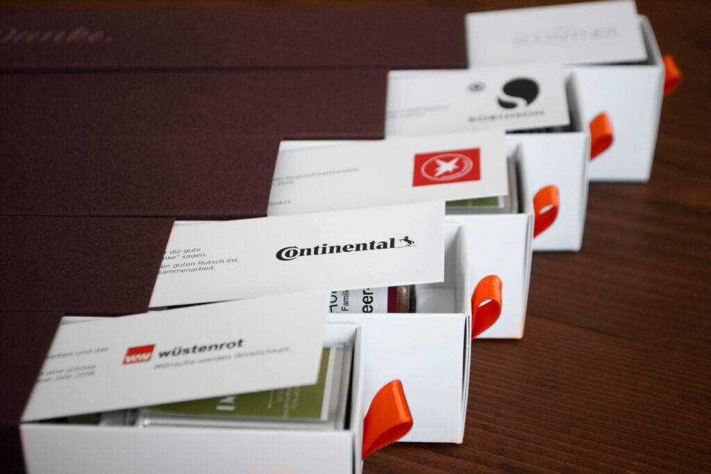 Dankebox als Geschenk für Kunden